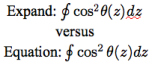 Expand vs Equation